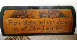 Haussegen Aus Holz Ca.  1925 - 1930 Bild