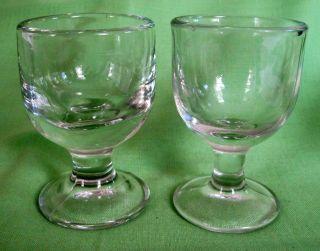 2 Antike Gastro - Gläser/ Groggläser - Pressglas - Geeicht Um 1900/1910 Bild