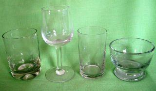 4 Verschiedene Alte Gastro - Gläser - Mungebl.  Abriss - Z.  T.  Geeicht Bild