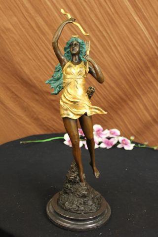 Mirval Bronze Figur Diana Die Jägerin Signierte Skulptur Bild