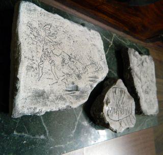 3 Pompeji - Grafitti - Gladiatoren,  Galeere,  Politiker Bild