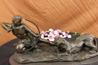 Bronzestatue Nackter Krieger Der Gegen Einen Löwen Kämpft Kunst Deko Gross Bild