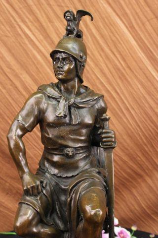 Bronze Skulptur Roman Gallant Krieger - Statue Signed Drouot Figur Figur Art Bild