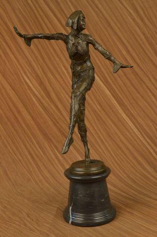 Bronzeskulptur Tanzende Frau Chiparus Kunst Deko Geschenk Bild