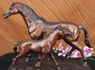 Stute Fohlen Hot Cast Bronze Horse Racing Pony Farm Skulptur Große Figur Kunst Bild