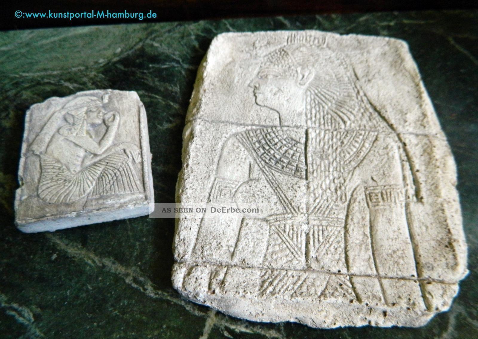 Top Ägyptika - Sammlerlot: Isis - Relief Aus Kalabsha Und Tafel Ramses Der Große Antike Bild