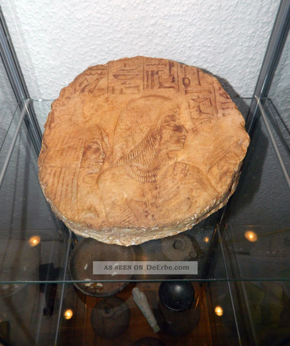 Großes Altägyptisches Wandrelief - Fragment Antike Bild