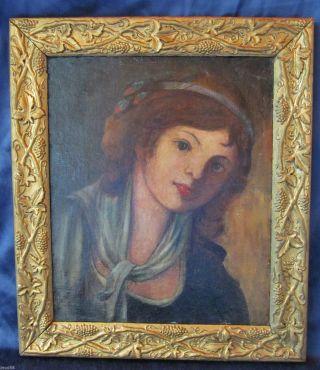 Mädchen Frau In Öl Frankreich / Paris Impressionismus Vor Oder Um 1900 Museal Bild