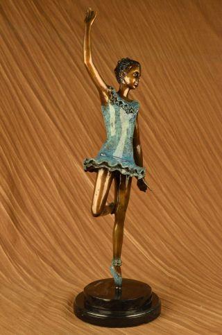 Chiparus Ballerina Tänzer Bronze Statue Skulptur Art Nouveau Figur Dekoration Bild