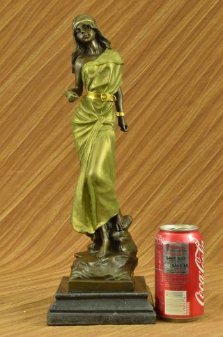 Unterzeichnet Miraval Ägyptische Prinzes.  Bronze Patina Figur Statue Skul.  Figur Bild