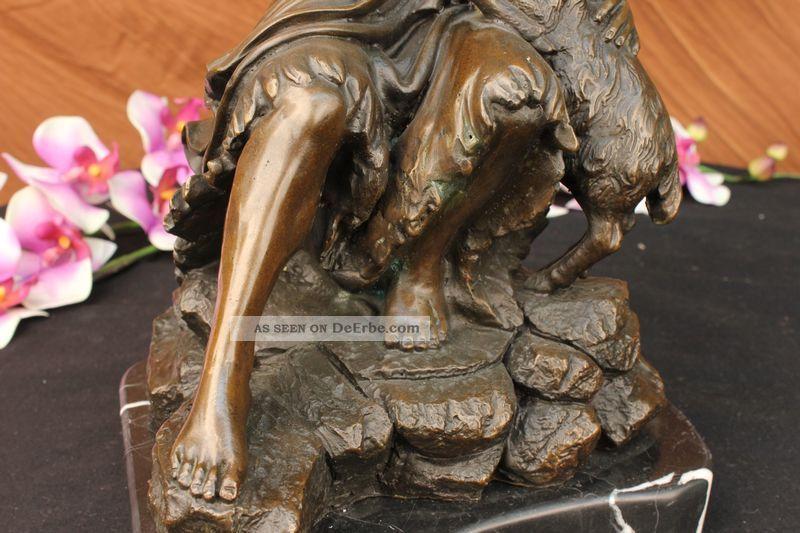 Unterzeichnet Valli Jesus Christus Auf Einem Felsen Bronze Skulptur Antike Bild
