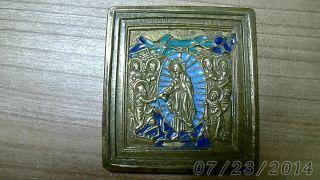 Russische Metall Ikone 100 Bild