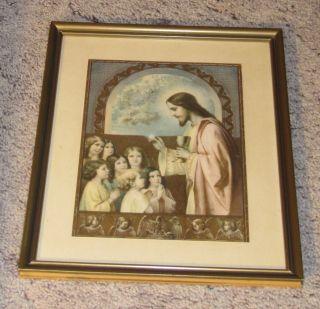 Gedenkbild Zur Ersten Heiligen Kommunion St.  Katharina Ehemals Sudetenland Bild