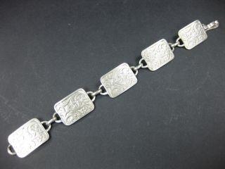 Armband Silber 835 Jugendstil Art Deco Alt Antikes Filigran Bild
