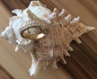 Edler Massiver Goldring 585 Mit 86 Diamanten (ca 0,  86 Ct) Zertifikat Bild