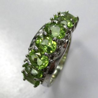 945 - Aparter Ring 925 Silber Mit Peridot - - - Video - 1476 - Bild