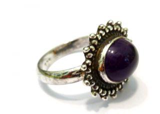 Silberring Amethystring 925 Er Silber Amethyst Ring Bild