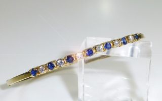 Armreif 585 Gold Saphir Brillanten Armspange 585er Gelbgold Armband Armschmuck Bild