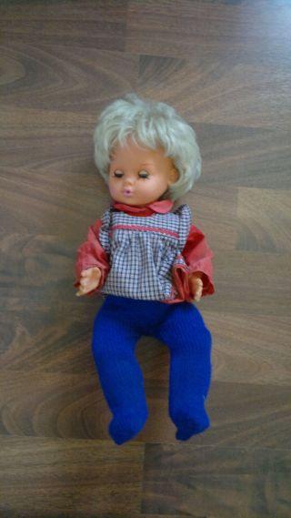 Alte Puppe Ela 45/16 1970 Keine Schildkröd Ca 48cm Bild