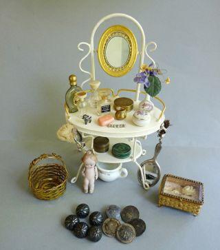 Miniaturen Rarität Von Rock & Graner Biberach Kosmetiktisch Mit Zubehör Konvolut Bild