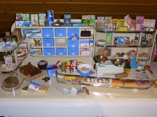 Alter Kaufmannsladen Kaufladen 50er 60er,  Viel Zubehör,  Teils Orginal Bestückt Bild
