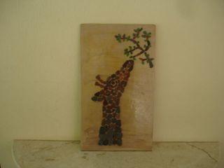 Unikat Handgefertigtes Mosaikbild Glasstückchen Auf Holz Caribbean Handcraft Bild