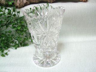 Prächtige Kristall Vase Blumenvase Mit Schliff Schleuderstern 7163 Bild