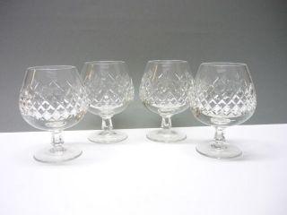 4 Kristall CognacglÄser - Reich Geschliffen - Schwere AusfÜhrung Bild