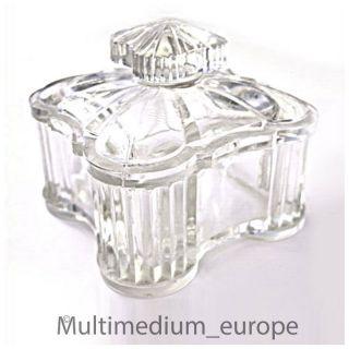 Schöne Seltene Preß Glas Deckel Dose Aus Klar Glas Um 1900 Guter Schöner Bild
