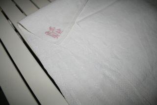 2 Leinen Tischdecken Jugendstil Weiß Rechteckig Bild