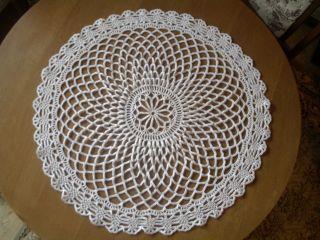 Handarbeit Kunstvolle Decke Klöppeln Häkeln Stricken Durchmesser Ca.  64 Cm Bild