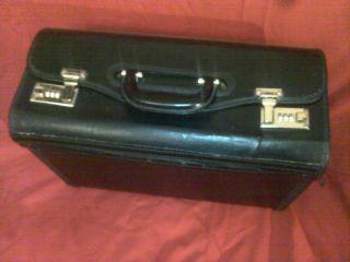Koffer,  Aktenkoffer,  Anwalts Koffer,  Warenmuster Koffer,  Schwarz Echtes Leder Bild