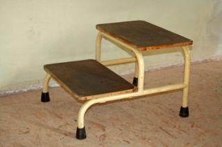 Vintage Arzt Praxis Fußbank 2stufige Treppe Bauhaus Rohrmöbel Konsole Tisch 50s Bild