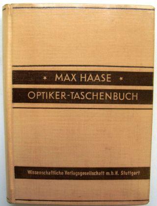 """Max Haase """"optiker - Taschenbuch"""" Bild"""