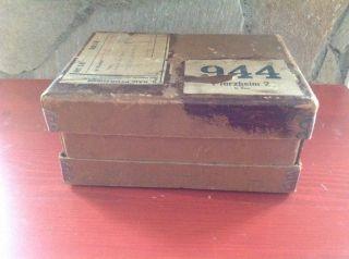 Antike Schachtel Pforzheim Shabby Chic Box Für Postkarten Fotos G.  Rau Walzwerk Bild