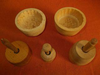Konvolut Von 5 Butterformen,  Butterform,  Butterstechform,  5 Holzbutterformen Bild