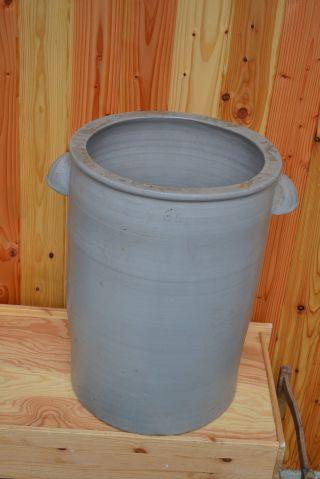 Alter 60 Liter Großer Sauerkrauttopf Steinguttopf,  Vorratstopf Bild