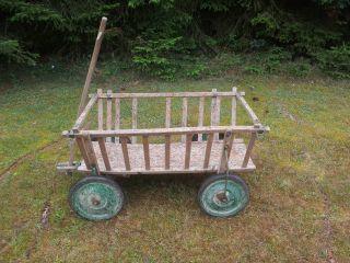Alter Leiterwagen Heuwagen Handwagen Bollerwagen Bild