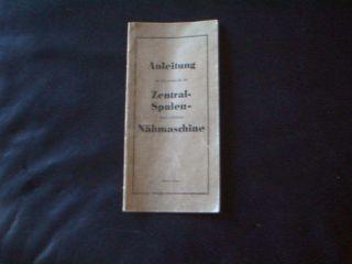 Nähmaschine - Anleitung Zentral - Spulen - Nähmaschine Ca.  50 - Ziger Jahre Bild