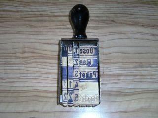 Antik Stempel Dachbodenfund Verstellbar Kaufmann Zahlenstempel Dose Flasche Dm Bild