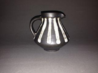 Kanne Steingut Keramik Braun Weiß Inhalt Ca.  350 Ml Schön Gearbeitet Bild
