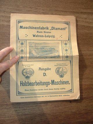 Maschinenfabrik Diamant Alwin Kirsten,  Wahren - Leipzig,  Katalog,  Ca.  1900 Bild