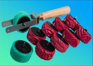 Abroller Mit Schwammrolle,  Ersatz,  8 Streifenwalzen,  Malerwalzen,  Malerrollen Bild