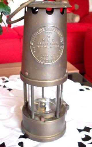 Englische Benzin - Sicherheitslampe Typ 6 / M & Q Vintage Top Für Sammler Bild