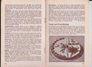 1934 Torten Mit Marzipanrosen Die Süsse Kunst Hekofa Konditorei Heft Nr.  8 Bild