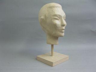 Kopf Aus Pappmaschee Kopfhörerhalter Perückenkopf Hutkopf Huthalter 37cm Bild