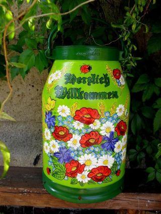 Milchkanne,  20 - L.  Handbemalt,  Marienkäfer,  Mohn,  Kornblumen,  Mageriten - Bestellung Bild