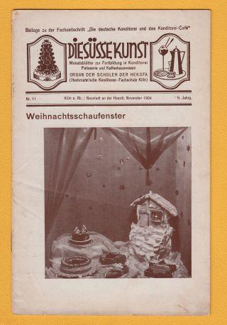 1934 - Weichnachtsschaufenster Die Süsse Kunst Hekofa - Konditorei Heft Nr.  11 Bild