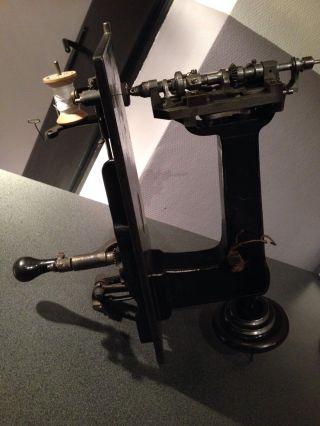 Lintz &eckhardt Embroidery Sewing Stickmaschine Kurbelstickmaschine Nähmaschine Bild