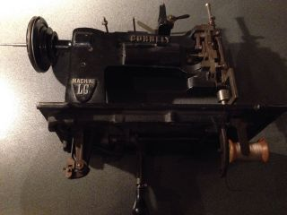 Cornely Lg Embroidery Sewing Stickmaschine Kurbelstickmaschine Nähmaschine Antik Bild